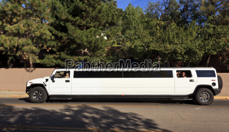 stretch limousine on street santa fe