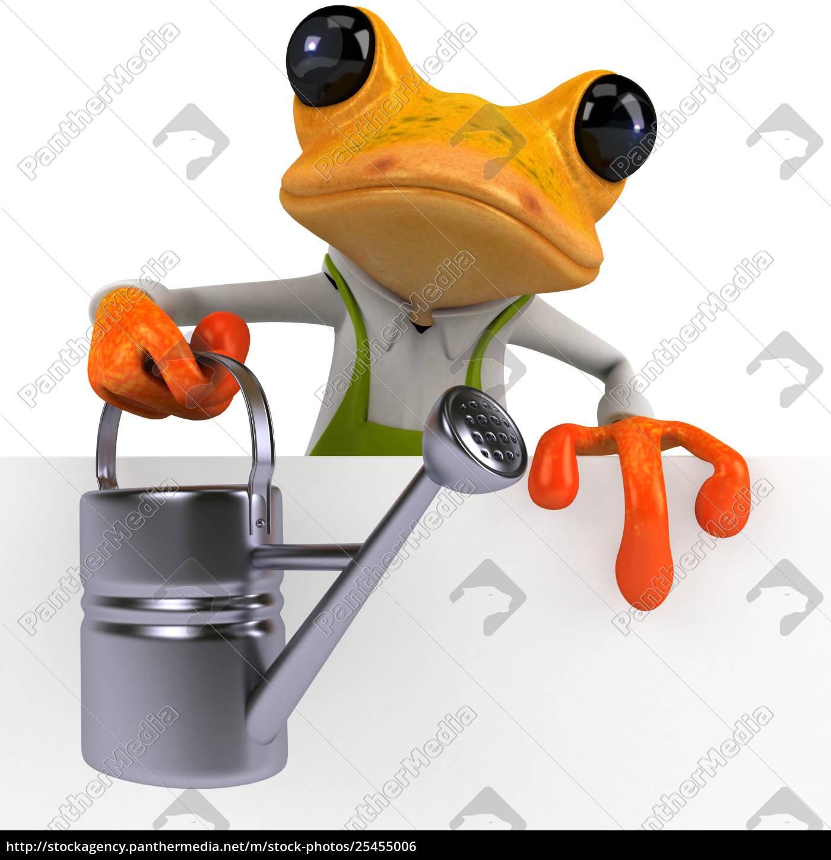 fun, frog, -, 3d, illustration - 25455006