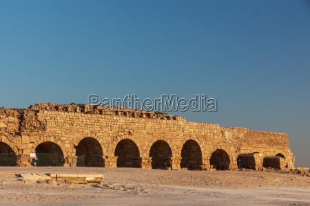 israel near town of caesarea ancient