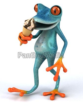 fun, frog, -, 3d, illustration - 25456594