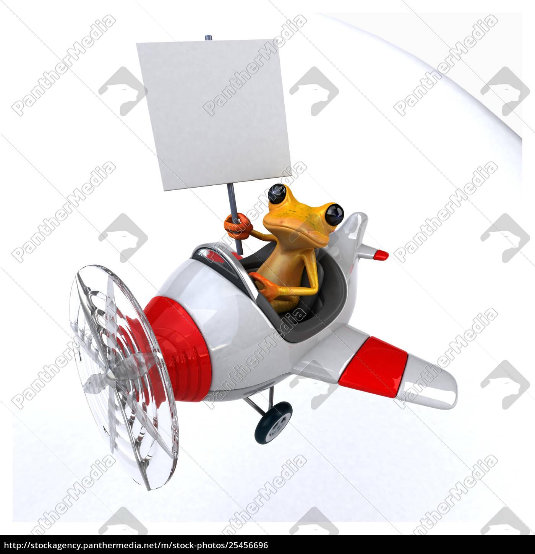 fun, frog, -, 3d, illustration - 25456696
