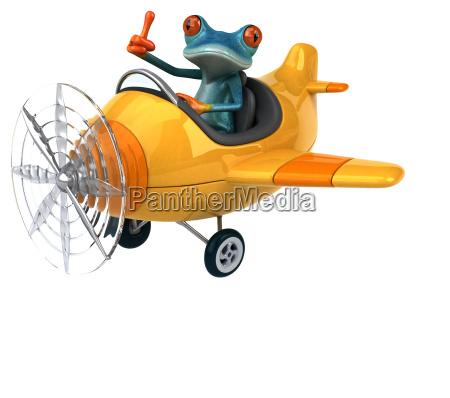 fun, frog, -, 3d, illustration - 25456710