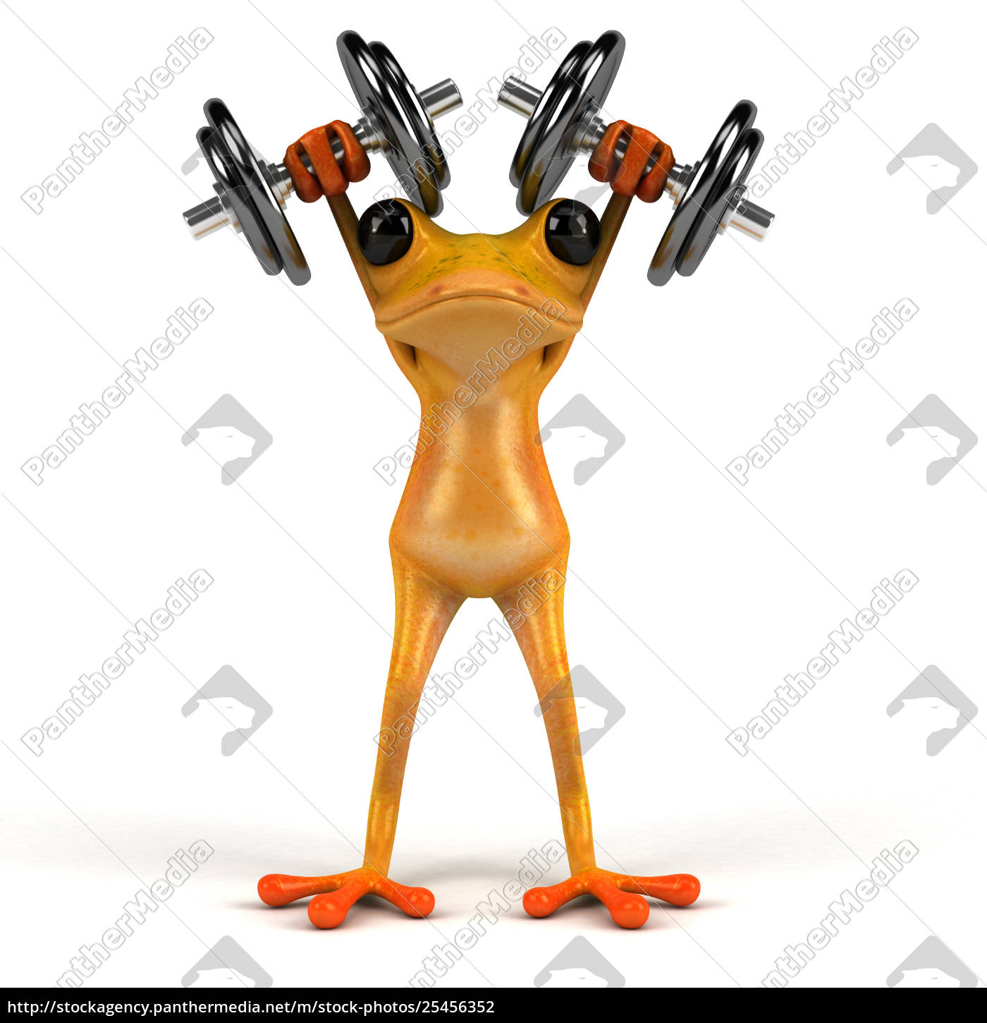 fun, frog-, 3d, illustration - 25456352