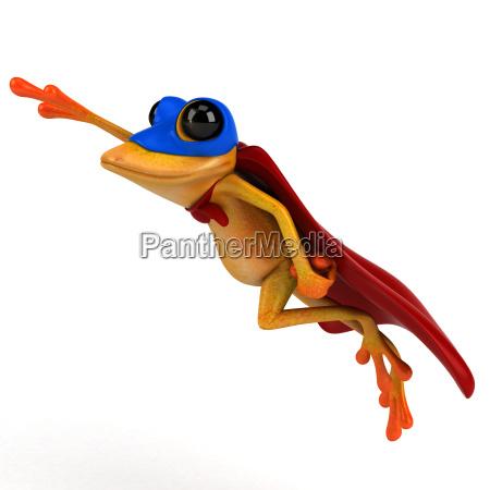 fun, frog-, 3d, illustration - 25456520