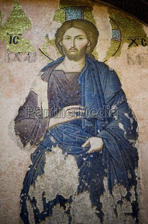 mosaic of christ in chora church