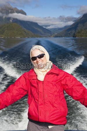 a traveler enjoys the scenic cruise