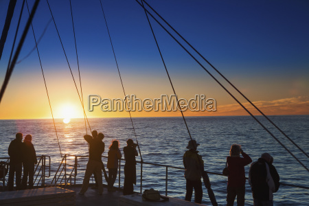 view of the sunset in the