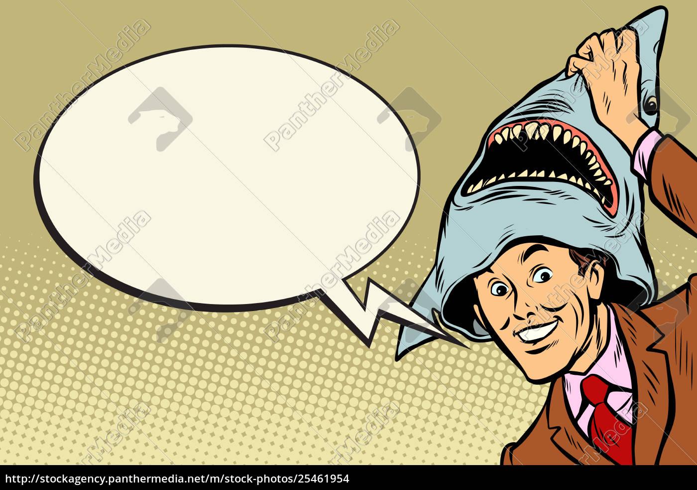 joyful, man, , carnival, shark, costume - 25461954