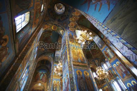 interior mosaics of church of the