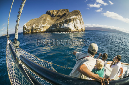 tourists on board a travel and