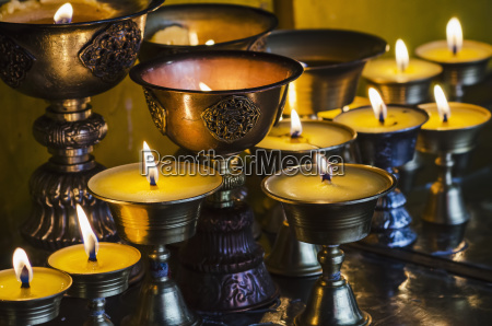 close up view of candles and