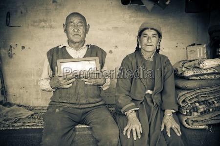 portrait of mature couple ladakh india