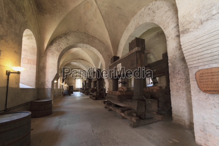 ancient wine presses in the refectory
