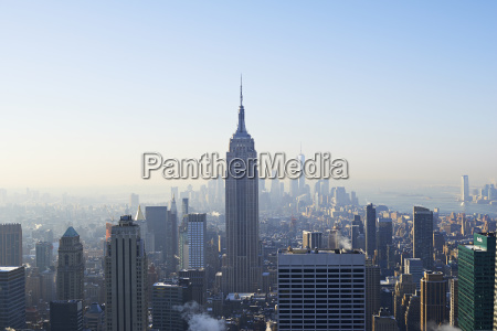 view of empire state building and