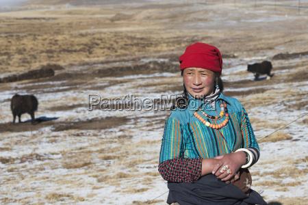 nomad woman from amdo region tibet