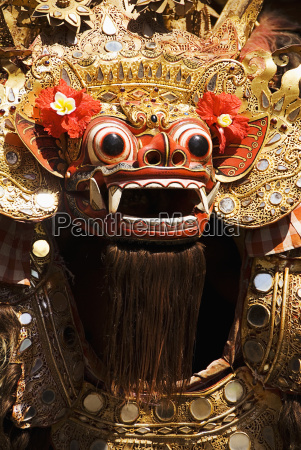 indonesia bali dancer in costume batubulan