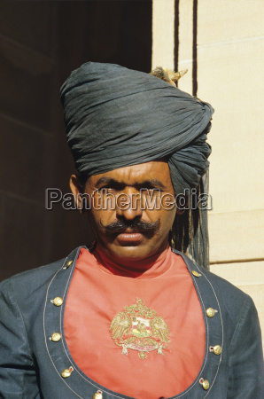 india jodhpur portrait of palace guard