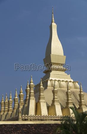 laos vientiane pha that luang architectural