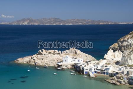 greece cyclades island of milos village