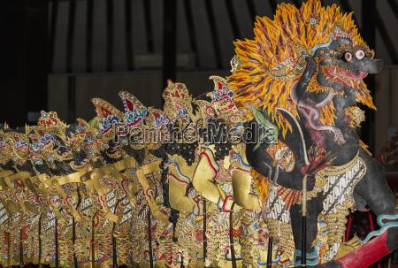 wayang kulit shadow puppets yogyakarta java
