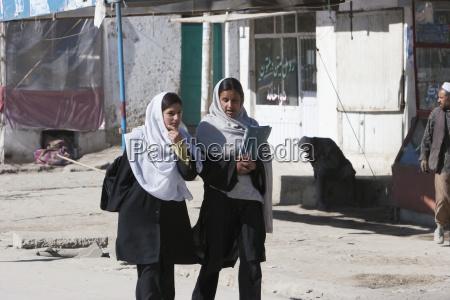 afghan schoolgirls in kabul afghanistan