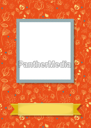 floral frame for picture with banner