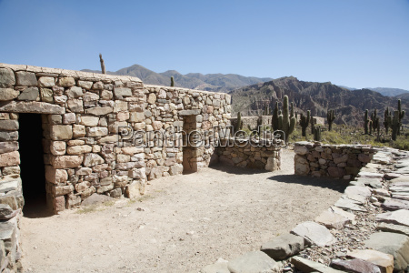 stone houses at the pre columbian