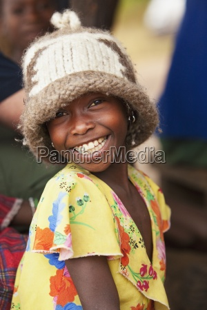 a child with a big smile