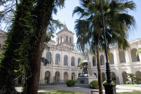 courtyard of the university in the