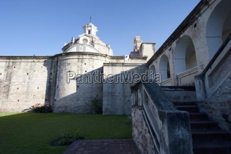 honor courtyard of the estancia alta