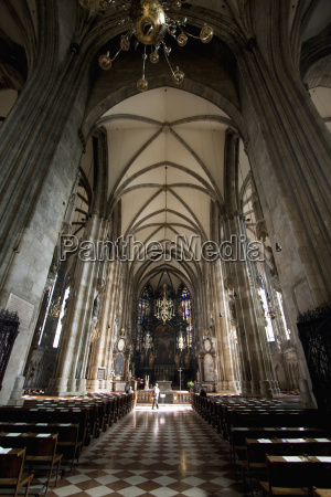 interior of st stephens cathedral vienna