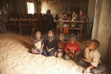 tuareg children in a primary school