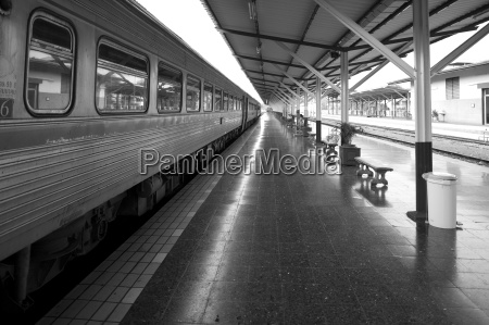 train in a railway station chiang