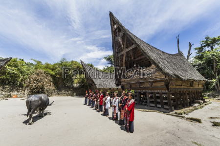 toba batak people performing a traditional