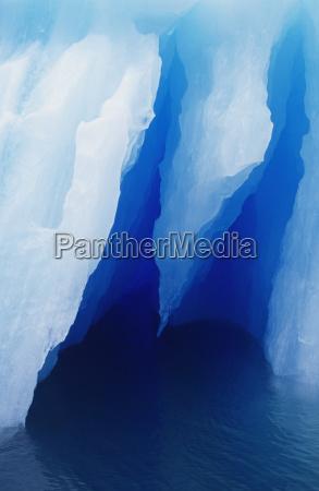 usa alaska iceberg detail tracy arm