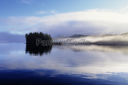 usa alaska frederick sound fog and