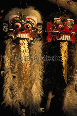 indonesia bali closeup of barong dance