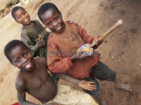 three boys playing manica mozambique africa