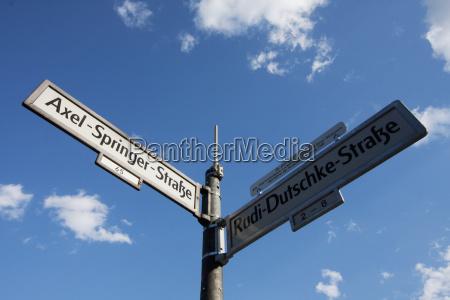 axel springer street and rudi dutschke