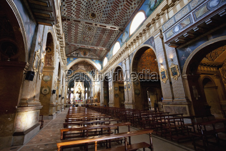 central nave of santo domingo monastery