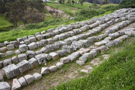 carved stones ingapirca archaeological complex canar