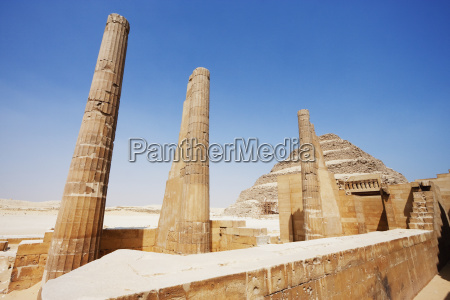 royal pavilion and step pyramid of