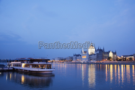 hungary budapest view along the river