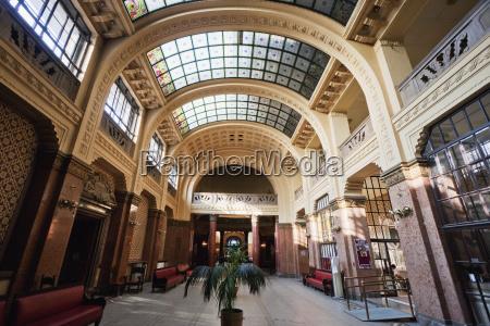 foyer of the gellert baths budapest