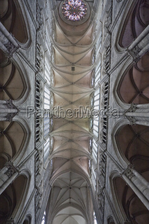 vaulted ceiling of the nave in