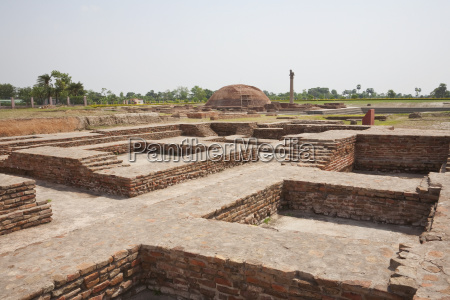 swastika shaped monastery vaishali bihar india