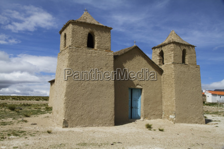old church built of abode pasajes
