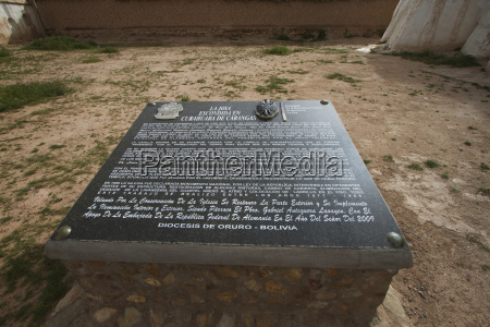 explanatory stone of the restoration by