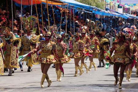 diablada dancers wearing elaborate devil masks