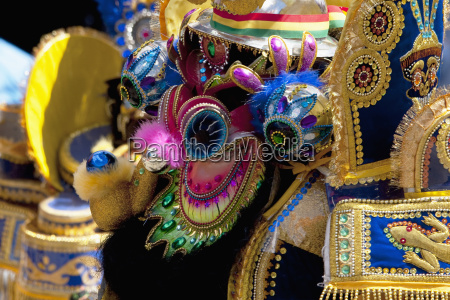 diablada dancer wearing an elaborate devil